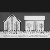 Grußkarte Weihnacht mit Kletterhilfen zur Fassadenbegrünungwn-nj_gruss_87-17-qua-kl