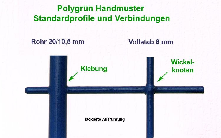 Polygrünm Kletterhilfen, bzw. Rankhilfen aus GFK-Rundprofilen - Verbindungen