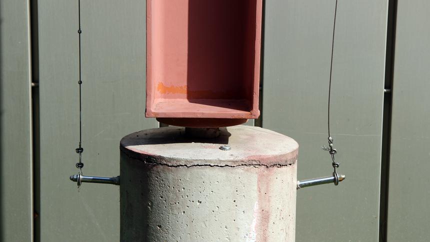 Fassadenbegrünung Seilbefestigung