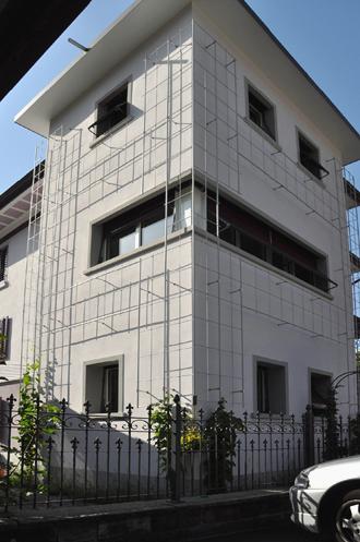 Kletterhilfen auf Leichtziegel Mauerwerk mit WDVS