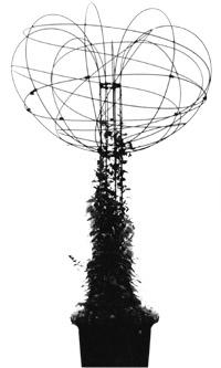 Freistehende Kletterhilfen, Rankgerüste - hier Polygrün Baumform aus GFK, 1985